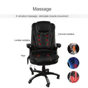 Delmango Heated Office Massage Chair 6 Vibrations