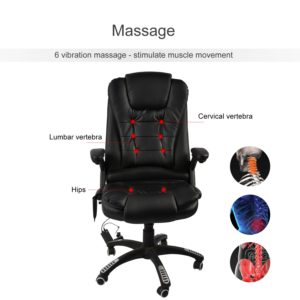 Delmango Heated Office Massage Chair 6 Vibrations