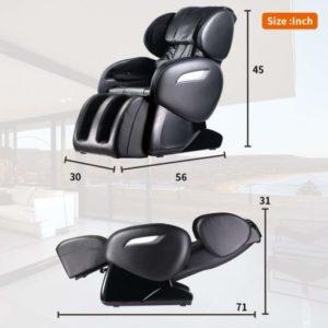 FDW Zero Gravity Full Body Electric Shiatsu Massage Chair Recliner Dimensions