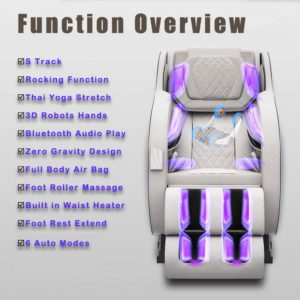 Shiatsu Massage Chair with S-Track, Zero Gravity Functions