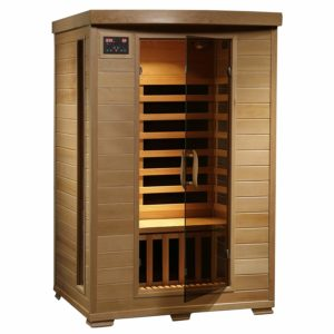 Radiant Saunas 2-Person Hemlock Infrared Sauna with 6 Carbon Heaters