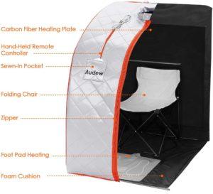 Audew Infrared Sauna Portable FIR