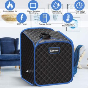 costway portable 2L steam sauna spa