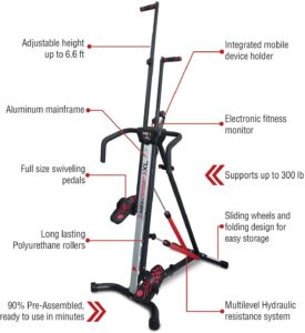 MaxiClimber XL-2000 Hydraulic Resistance Vertical Climber