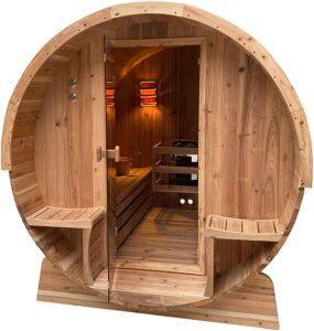 ALEKO SB6CED Outdoor Rustic Cedar Barrel Steam Sauna