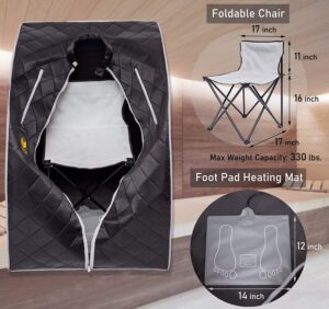 LTTECH Portable Infrared Sauna chair food pad