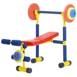 redmon fun kids weight bench set