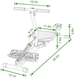 soges Rowing Machine Dimensions
