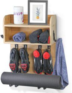 Naisi Multi-functional Home Gym Wall Mount Rack Shelf Organizer