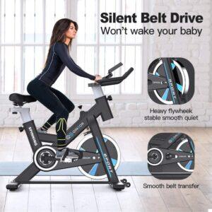 QINGOR Stationary Indoor Exercise Bike
