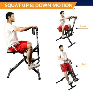 TELESPORT Upright Squat Assist Row-N-Ride Trainer
