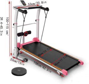 Zeyacaif Foldable Mechanical Treadmill