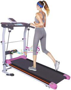 Zeyacaif Foldable Mechanical Treadmill Two Wheel