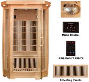 MRNIU Steam Sauna Indoor Sauna 2-Person Infrared