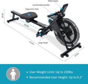 BLH Air Rowing Machine Rower