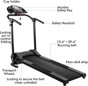 LETRA Folding Treadmill Electric Motorized Running Machine