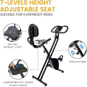 Obenater Exercise Bike Folding Magnetic Bike