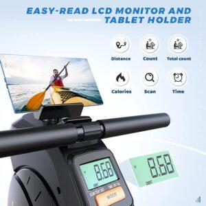 YOSUDA Magnetic Rowing Foldable 350 LB Rower