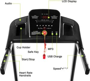 Anwick 2.5HP Home Treadmill LCD Dİsplay